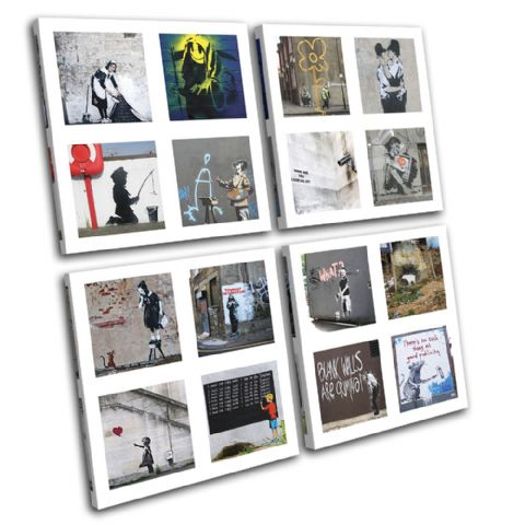 HD Collage Banksy Street - 13-1365(00B)-MP01-LO